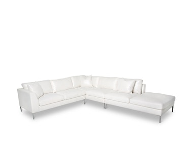 Aico Furniture Aeria 3p LAF Sectional Loveseat ST-AERIA-LSC3-ICE-94