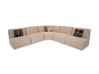Aico Furniture Munich 5pc Chair Sectional with Wedge ST-MUNCH-CSC5BCH-00