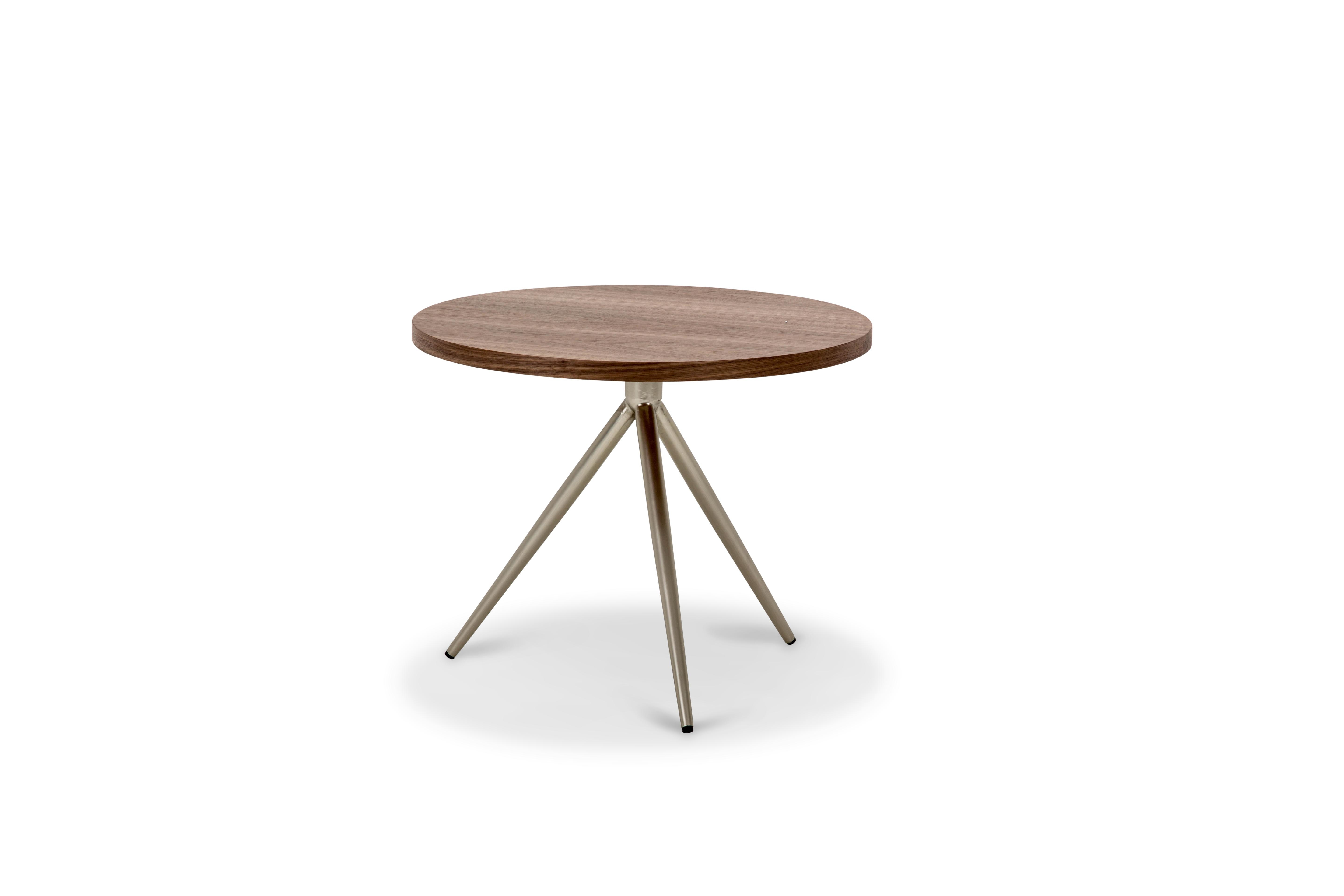 Aico Furniture Eclipse Modern Adjustable End Table W/Walnut Top TR ECLPS202