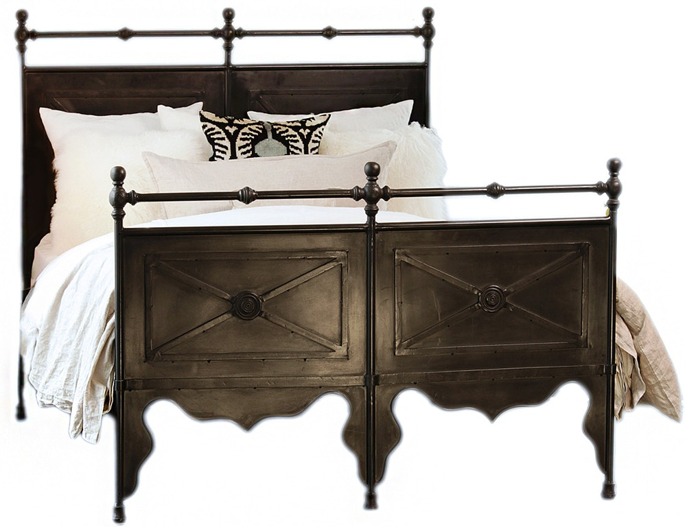 Dovetail furniture al359ek bedroom channing iron bed eastking for Dovetail furniture