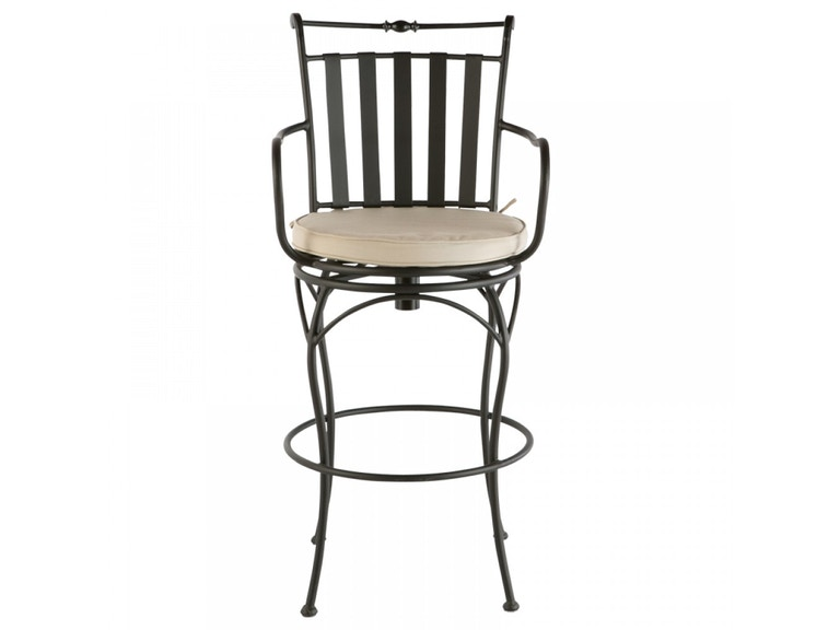 Alfresco Home OutdoorPatio Classico Swivel Bar Chair with Cushion ...