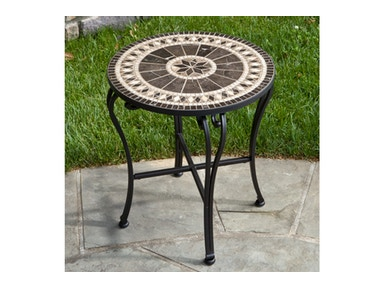 Alfresco Home Gibraltar 20 Round Marble Mosaic Table Top 21-7210-T