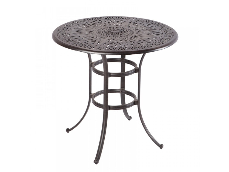 Alfresco Home OutdoorPatio Kaleidoscope 42 Round Bar Table with ...