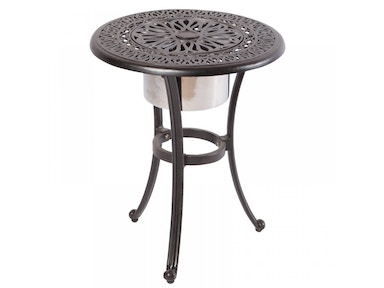Alfresco Home Kaleidoscope 21 Round Beverage Cooler Side Table with SS bowl 22-0338A-AW