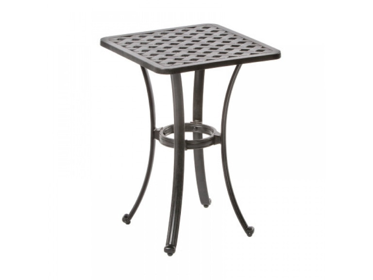 Alfresco Home OutdoorPatio Weave 21 Square Gathering Side Table 22 ...
