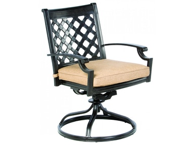 Alfresco Home Lattice Swivel Dining Chair frame only 22-1110-AF