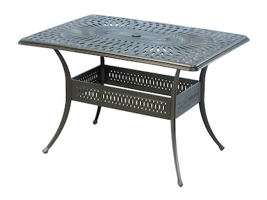 Alfresco Home Florentine 42x57 rectangle Gathering Table 22-1184-AB