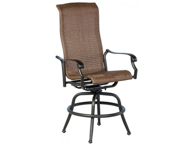 Alfresco Home Naples Wicker Cast Gathering Swivel Arm Chair 22-1190-AB