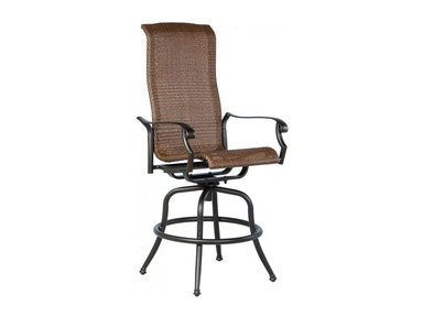 Alfresco Home Naples Wicker Cast Bar Swivel Arm Chair 22-1192-AB