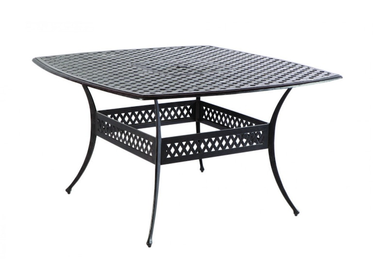 Alfresco Home OutdoorPatio Weave 64 Square Gathering Table w/ umb ...