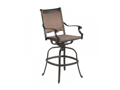 Alfresco Home Pilot Wicker Cast Bar Swivel Arm Chair 22-1816-AZ