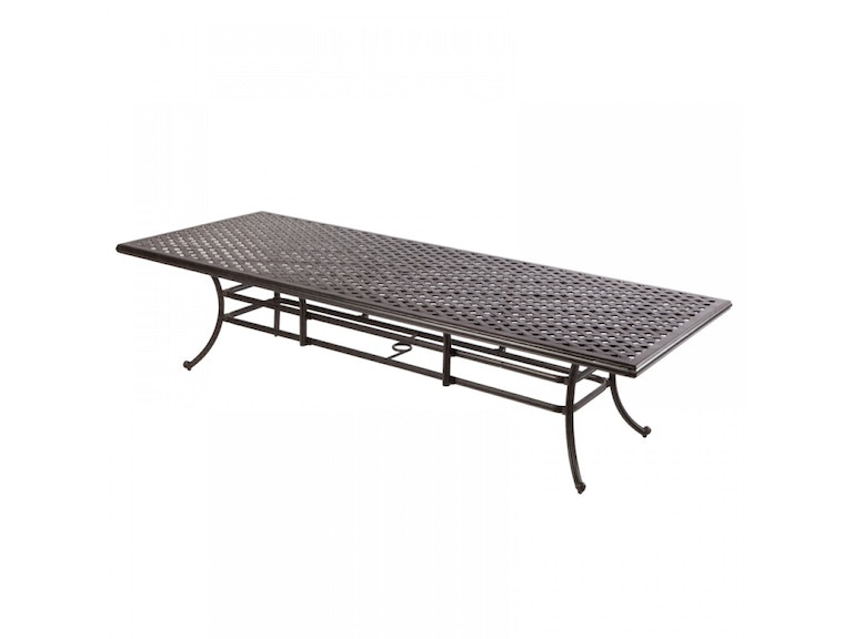 Alfresco Home OutdoorPatio Weave 120 x 46 Rectangular Dining Table ...