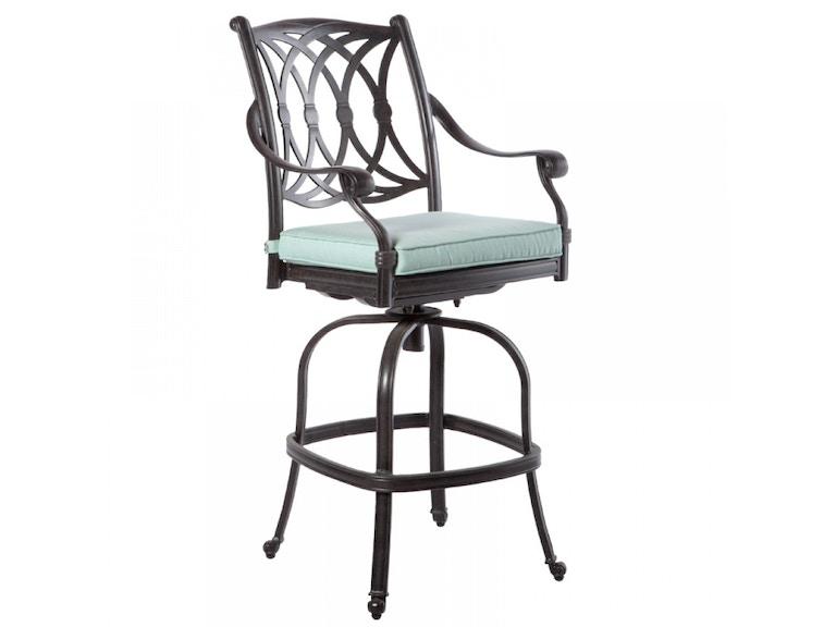 Alfresco Home 22-7207-AF OutdoorPatio Rimini Swivel Bar Chair