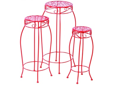 Alfresco Home Martini Accents Round Plant Stand - Set of 3 26-1170