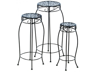 Alfresco Home Martini Accents Round Plant Stand - Set of 3 26-1171