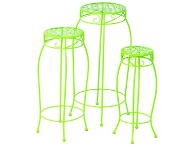 Alfresco Home Martini Accents Round Plant Stand - Set of 3 26-1172
