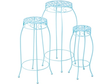 Alfresco Home Martini Accents Round Plant Stand - Set of 3 26-1216