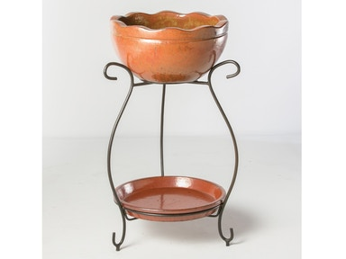 Alfresco Home Mallorca Beverage Cooler with saucer & iron stand 30-0422
