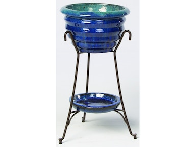 Alfresco Home Vilano Beverage Cooler with saucer & iron stand 30-1121