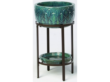Alfresco Home Ponce Beverage Cooler with saucer & iron stand 30-1125