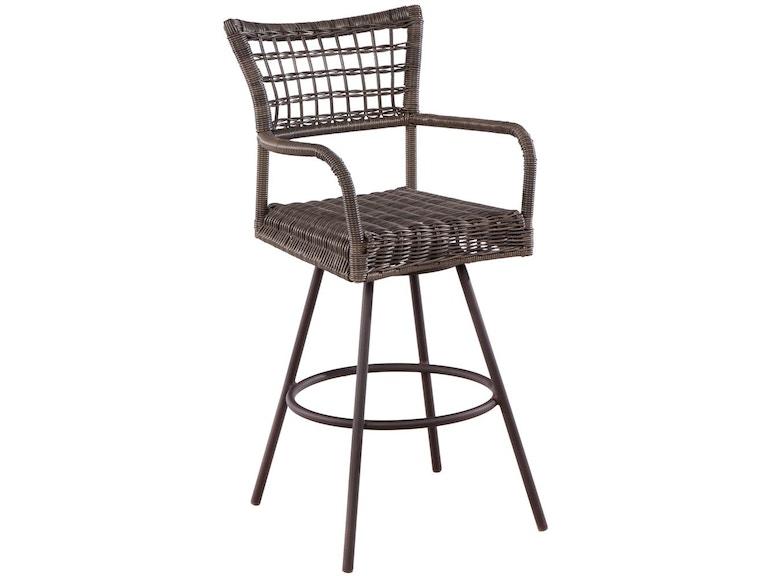 Alfresco Home 43-1290 OutdoorPatio Bainbridge Bark Swivel Bar Chair