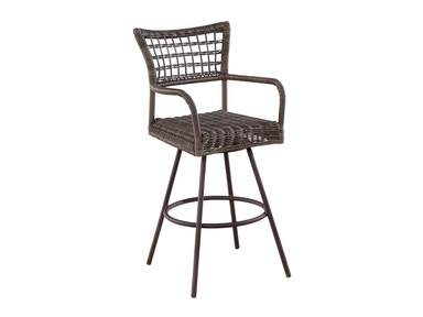 Alfresco Home Bainbridge Bark Bar Swivel Bar Chair 43-1290