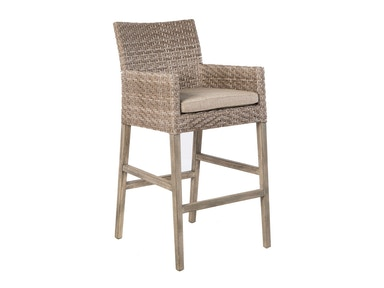 Alfresco Home Cornwall Woven Wood Bar Chair 46-1202
