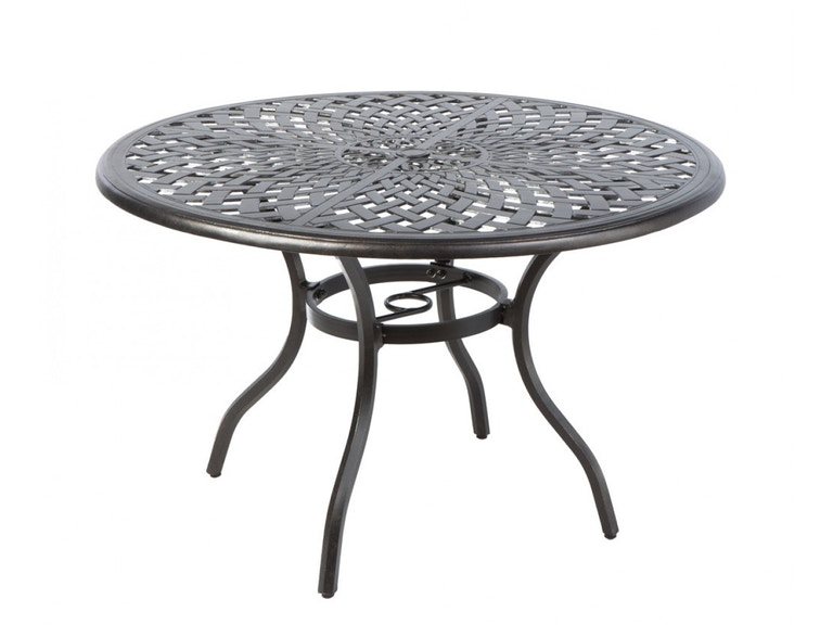 Alfresco Home 54-1331 OutdoorPatio Bay Leaf 48 Round Dining Table ...