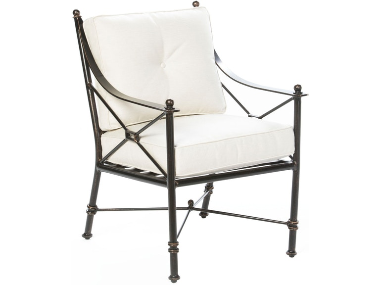 Alfresco Home 54-1420 OutdoorPatio Gables Dining Arm Chair