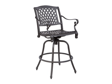 Alfresco Home Westbury Bar Swivel Arm Chair 56-1224-AB