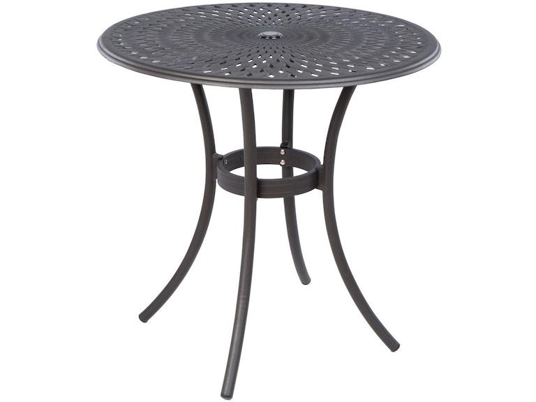 Alfresco Home OutdoorPatio Kingston Weave 42 Round Bar Table 56 ...