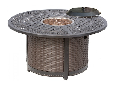 Alfresco Home Vasari 48 Round Cast Aluminum Gas Fire Pit Chat Table 58-1135