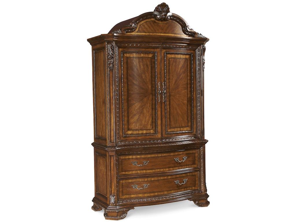 Art Furniture 143160 2606 Bedroom Old World Armoire Set