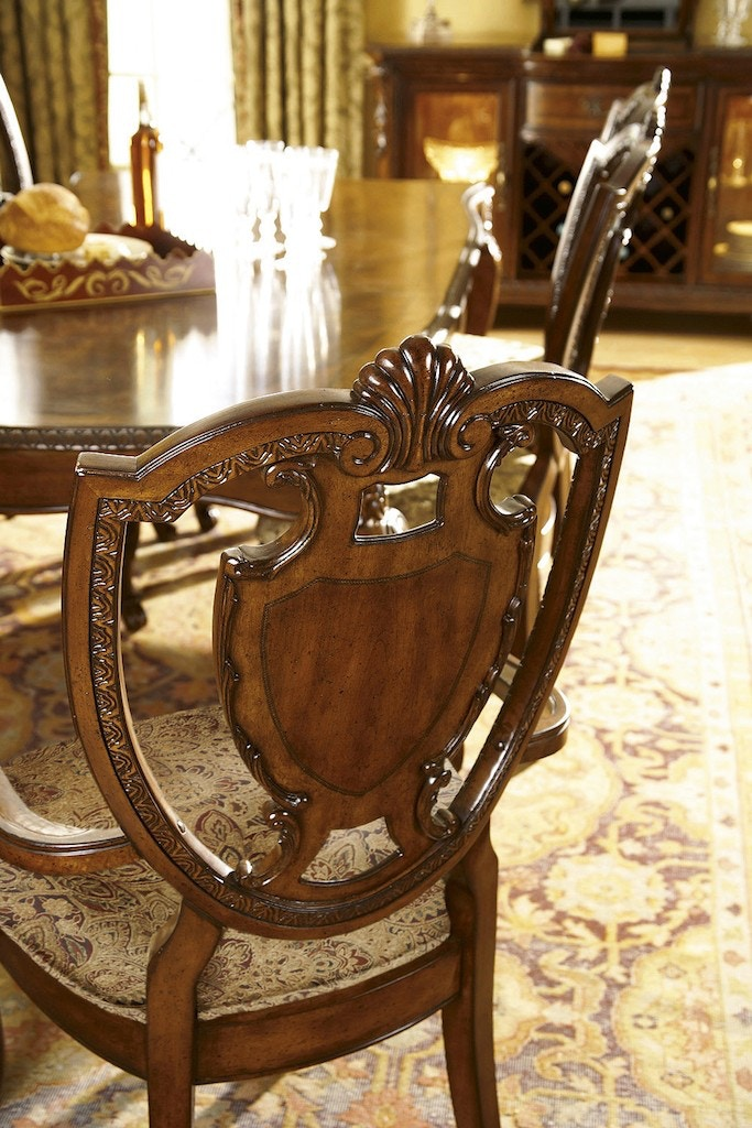ART Furniture Old World Shield Back Arm Chair Fabric Seat 143203 2606
