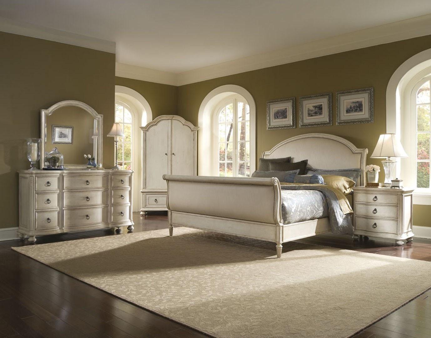 Beau ART Furniture Provenance Eastern King Upholstery Sleigh Bed   Linen  176186 2617