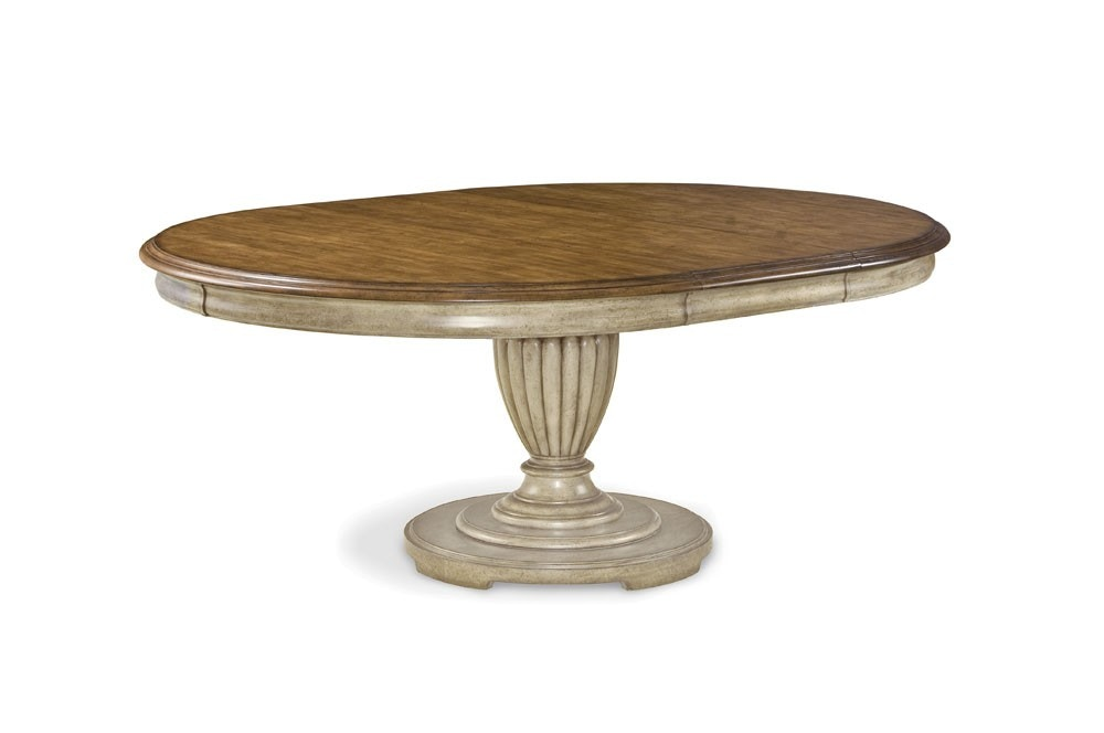 ART Furniture Provenance Round Table English Toffee With Linen Apron  176225 2608
