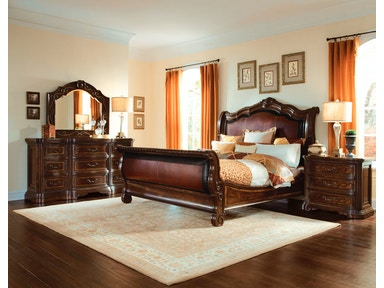 ART Furniture Valencia - 6/0 Uph. Sleigh Bed 209147-2304
