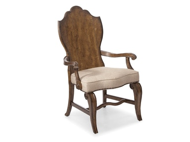 ART Furniture Continental - Wood Back Arm Chair - Weathered Nutm 237205-2624