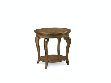 ART Furniture Continental - Round Lamp Table - Weathered Nutmeg 237303-2624