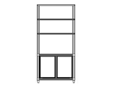 ART Furniture Roseline - Nora Door Bookcase 248802-2302