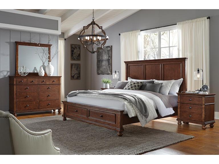 aspenhome Furniture I07-450-WBR Bedroom Oxford 2 Drawer Nightstand