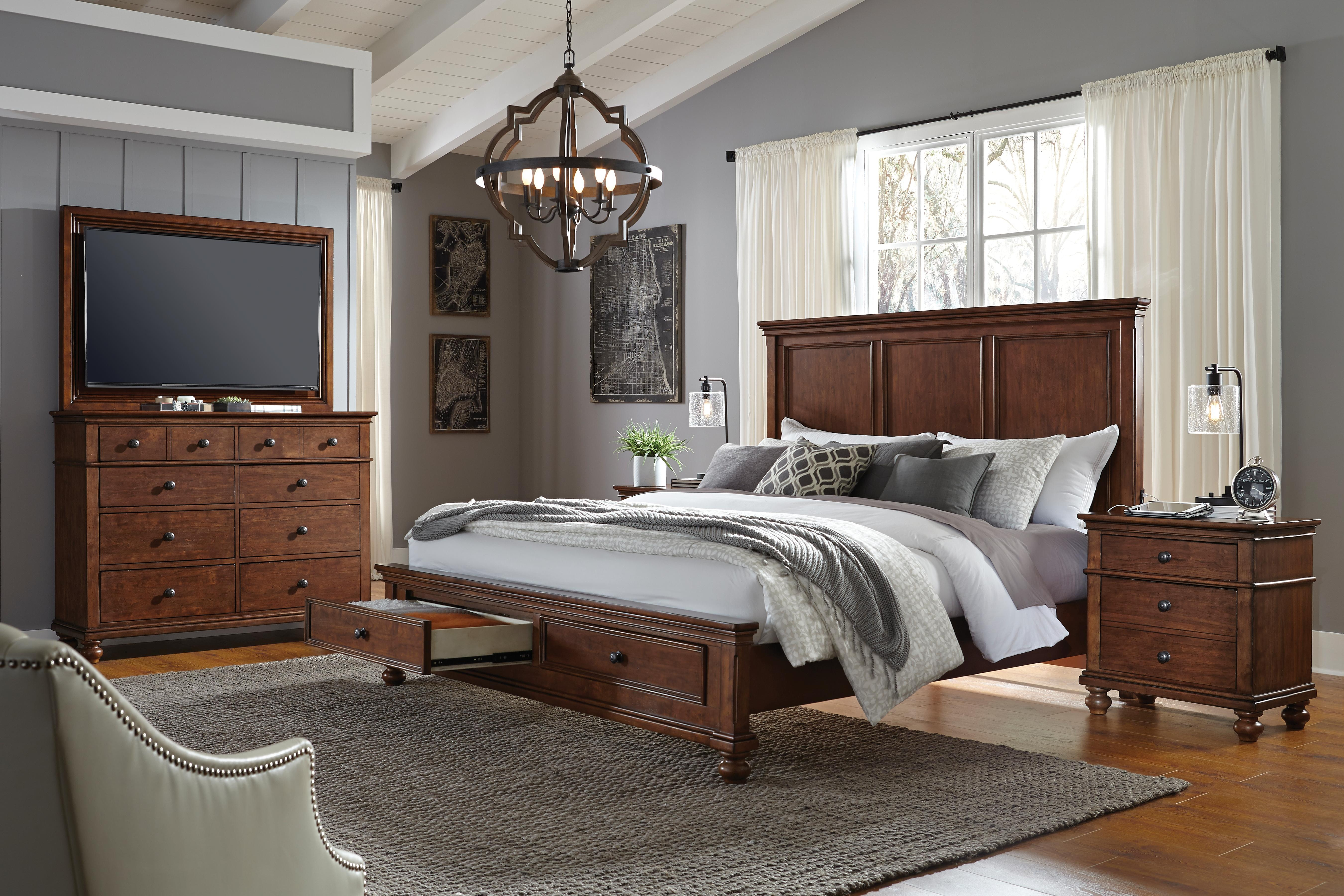 aspenhome Furniture Oxford 2 Drawer Nightstand I07 450 WBR