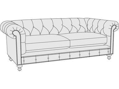 Bernhardt Furniture London Club Loveseat 2275L