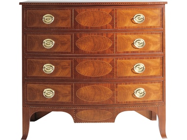 Baker Furniture Historic Charleston Bow Front Chest 1978