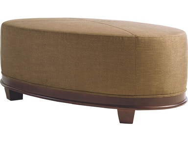 Baker Furniture Barbara Barry Oval X-Stitched Ottoman 3491