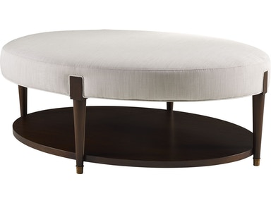 Baker Furniture Barbara Barry Ondine Oval Cocktail Bench 3690
