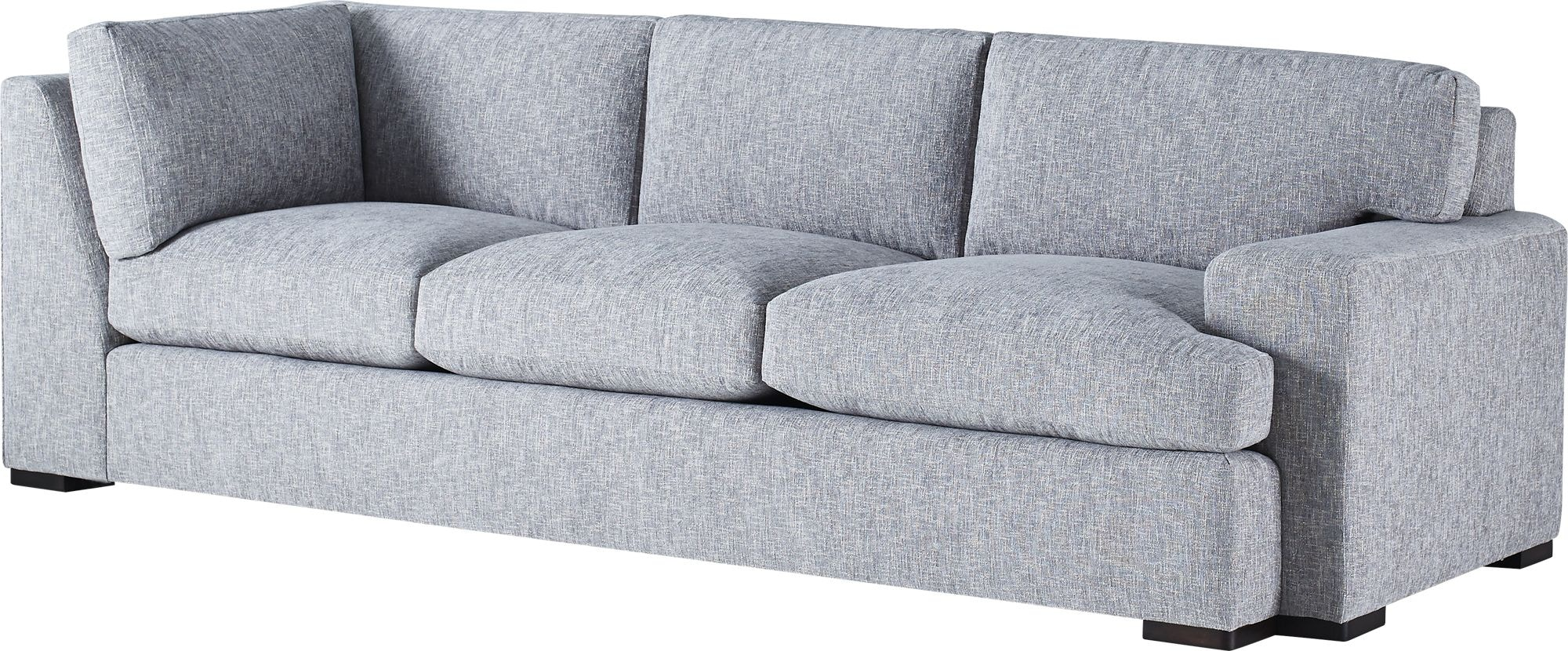 baker furniture jean louis deniot moonstone one arm corner sofa loose back 6181sc