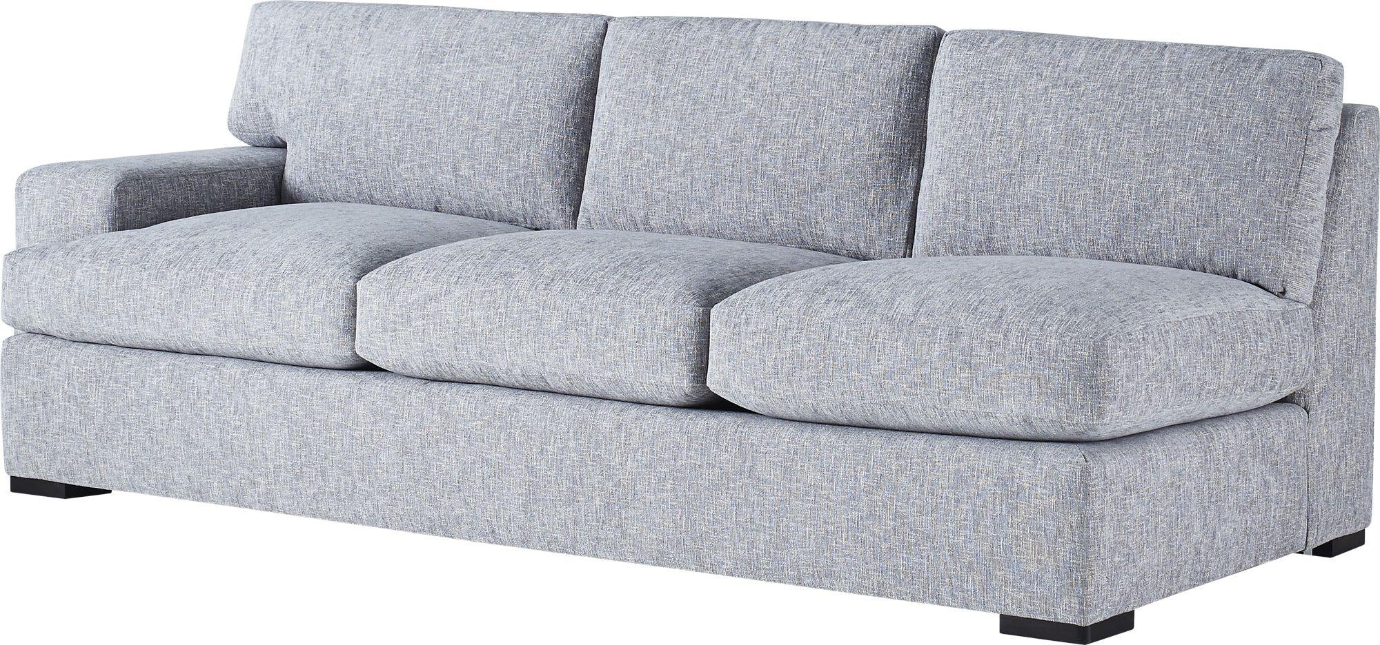 baker furniture jean louis deniot moonstone one arm sofa loose back 6181so1
