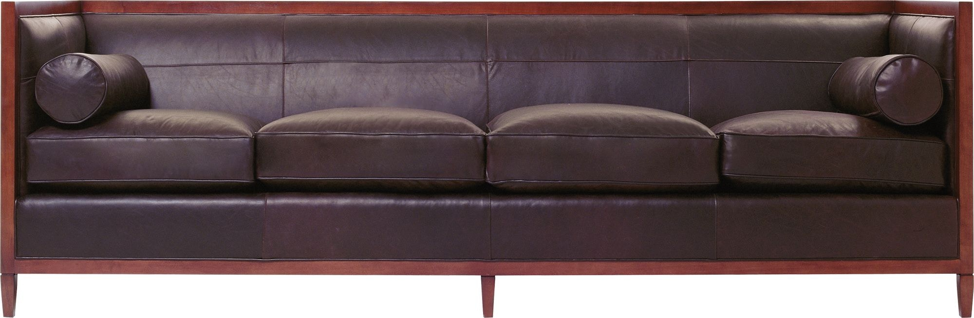 archetype furniture. baker furniture classics upholstery archetype wood banded sofa 637098 r