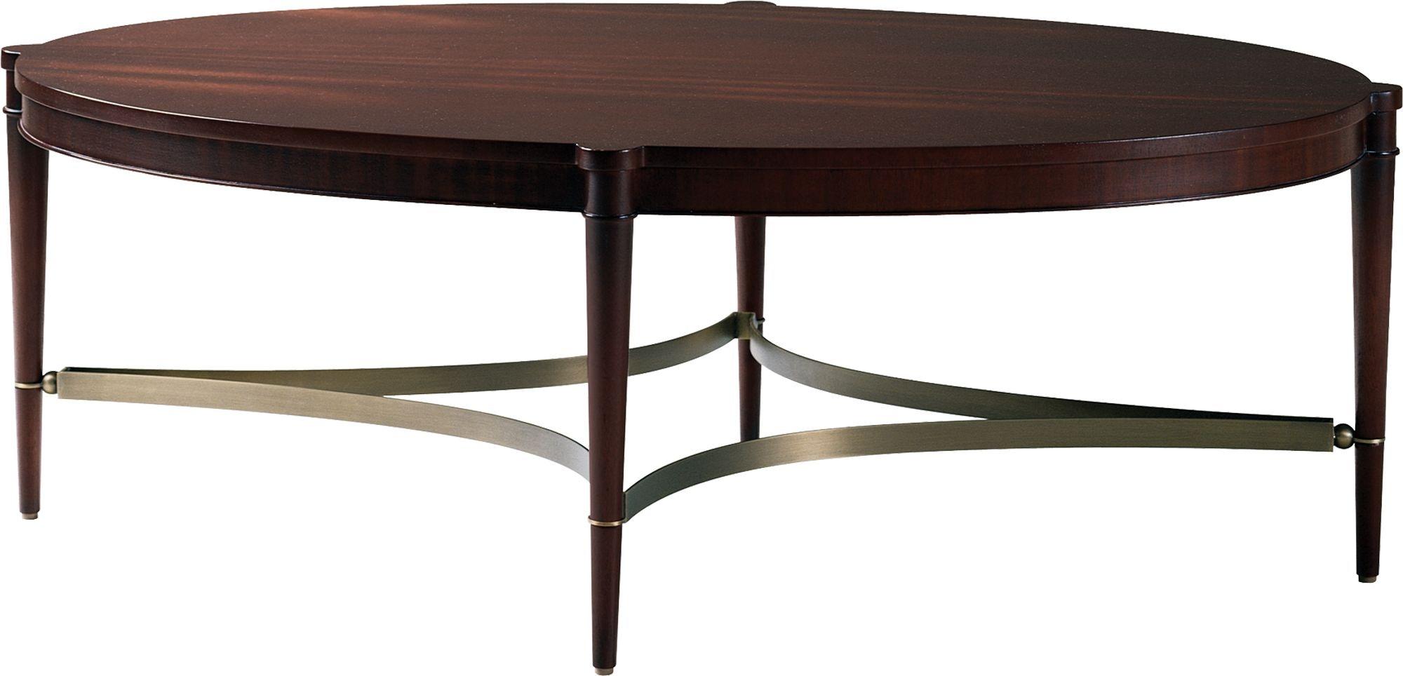 Baker Furniture 7855 Living Room Thomas Pheasant Oval Coffee Table